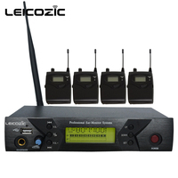Leicozic BK 510 Professional IEM Systems 4 Receiver wireless in ear monitor system for stage sound monitoring in ear stage sound