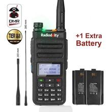 Rádio em dois sentidos analógico GD 77 136/174 400 mhz walkie talkie do presunto com bateria radioddity 470 dmr faixa dupla do entalhe de tempo duplo