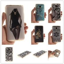 2016 de Moda de Nova Bonito Pattern Pintado TPU IMD Suave Silicone Para caso para meizu mx4 meizu mx4 mobile phone caso tampa traseira