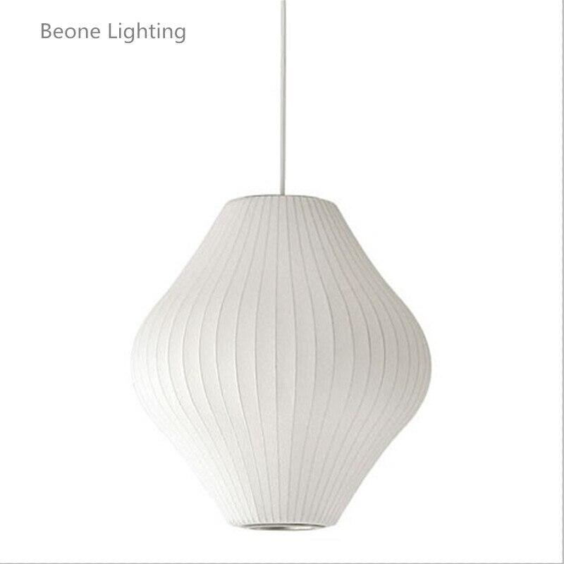 Lampe à bulles en soie blanche lampe à suspension poire blanche 40 cm réplique E27 lampe à suspension en soie éclairage salle de repos suspension en soie