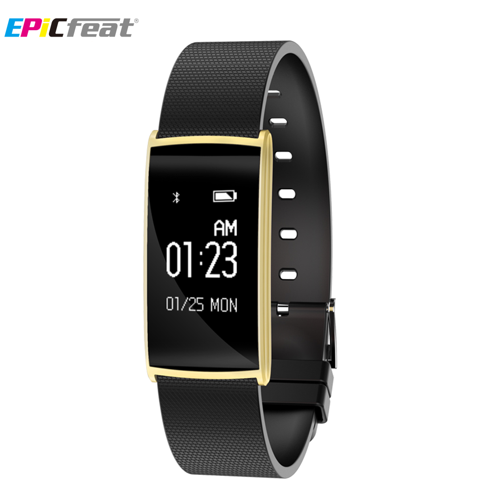 EPiCfeat Heart Rate Blood Pressure Pedometer Smart Wristband for Android iOS phone Sleep Tracker Fitness Bracelet Fitbit N108 эпилятор philips bre 650 00 satinelle prestige