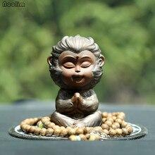 NOOLIM фиолетовый глиняная печь милый обезьянка Король Чай домашнее животное украшения Творческий чай церемония чайная игра чайный поднос украшение автомобиля ремесла