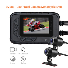 Blueskysea DV688 Motorcycle DVR Camera Waterproof 2.4 IP67 Dual Moto GPS Dash Cam HD Motorbike Sport Night Vision