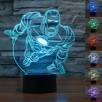 Iron Man Mark Led Verlichting Sfeer Lamp Festival Lantaarn Kerstdecoratie Supply Glow Party Accessoire Bruiloft Gunsten