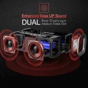 Image 2 - HAVIT Portable Wireless Bluetooth Speaker Stereo big power 10W AUX TF Music Subwoofer Column Speakers for Computer New Gift
