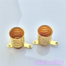 2pcs J151Y Brass Lamp Socket Bulb Socket for our 2.5V Small Bulb Tool Part  High Quality On Sale