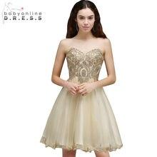 f36bd30c4 Baratos graduación Vestido Backless atractivo de la gasa de encaje  Homecoming vestidos corto 8th grado vestidos de baile Vestido.