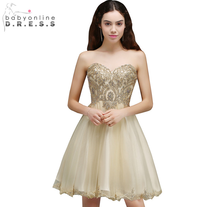 Cheap Graduation Dress Sexy Backless Chiffon Lace Homecoming Dresses Short 8th Grade Prom Dresses Vestido de Festa Curto