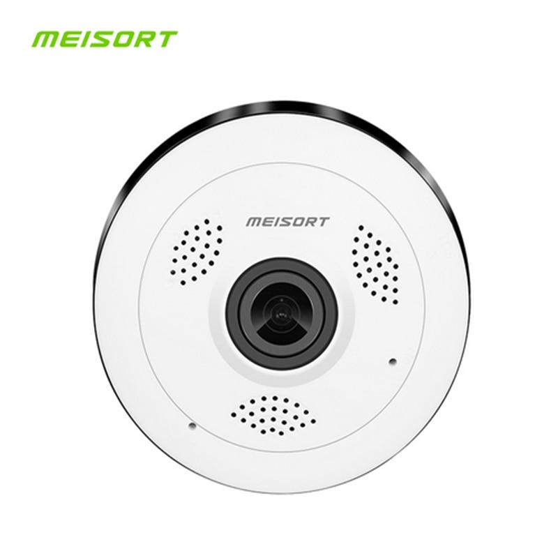 Meisort Panoramic Camera 360 Degree HD Wi-fi Mini IP Camera Home Security Wireless P2P IP CCTV Camera 1.3MP 960PH Baby Monitor нивелир ada cube 2 360 home edition a00448