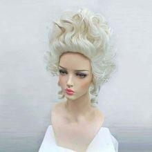Marie Antoinette Wigs Princess Medium Curly Hair Cosplay Wig + Wig Cap