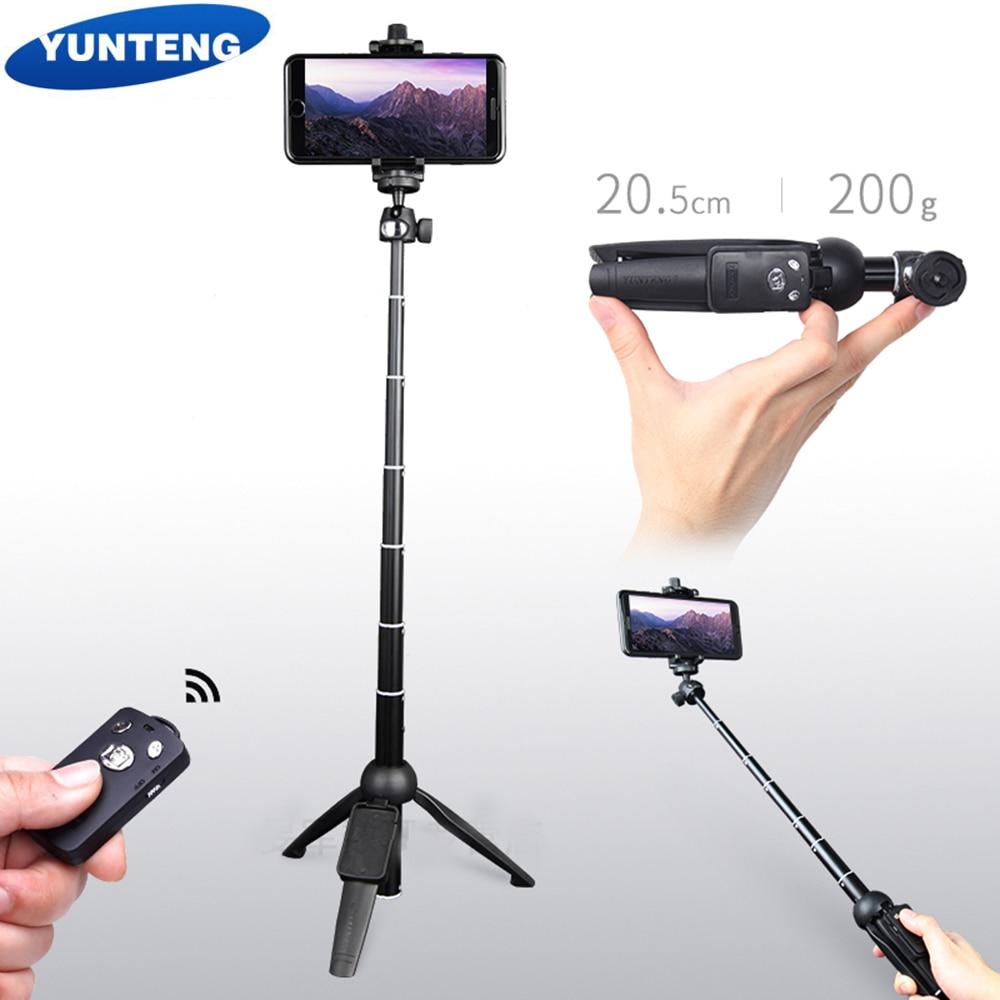 YUNTENG 9928 Wireless Bluetooth Remote Extendable Selfie Stick Monopod Tripod Phone Stand Holder Mount phone Clip Holder