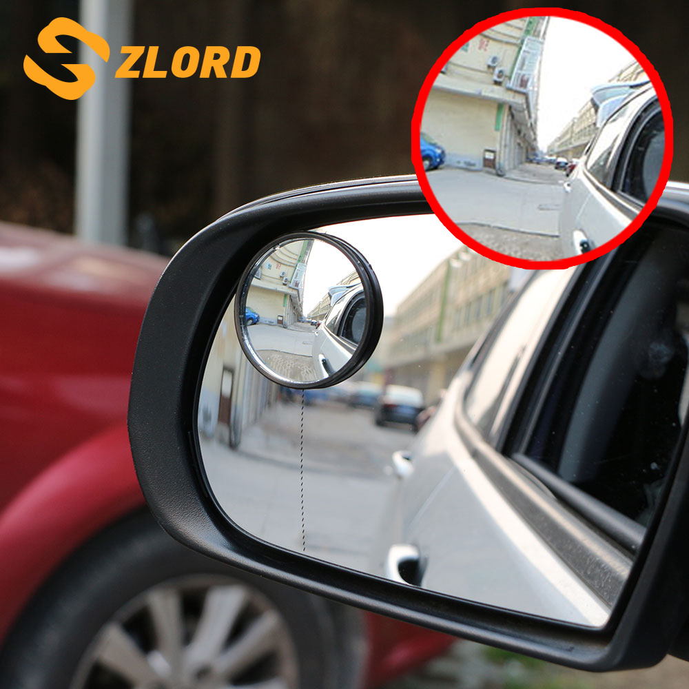 Universal 2pcs Auto 360° Wide Angle Convex Rear Side View Blind Spot Mirror Hot