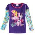 Бренд девушка майка, фиолетовый детские футболки, детские футболки, футболки для детей, детские футболки, футболки для девочек анфан