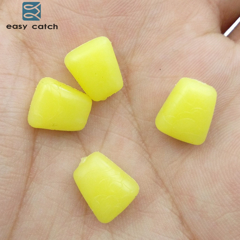 Easy Catch 50pcs Soft Carp Fishing Corn Baits Yellow Artificail Floating Rubber Sweet Corn Lures Carp Fishing Accessories