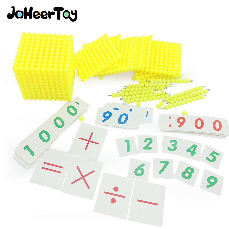 JaheerToy Montessori Early Childhood Educational font b Toy b font Decimal Banking Game Math Baby font