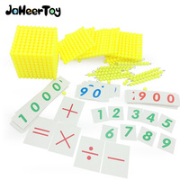 Montessori Early Childhood Educational Toy Decimal Banking Game Math Baby Toys Mathematics 6 7 8 9