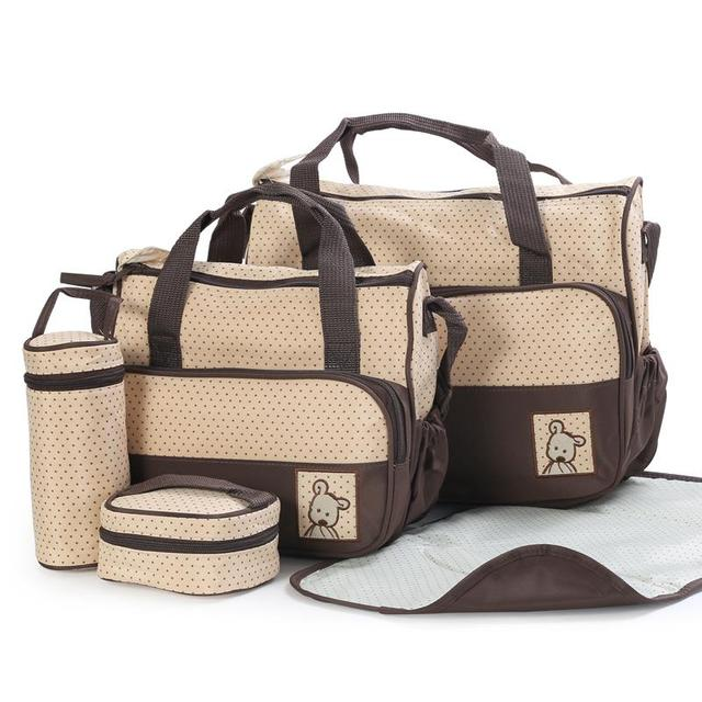bf2d21395128e 5 pcs set Nappy Bags Diaper Bags Designer Maternity Mummy Bag For Baby  Stuff YS-MM001