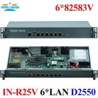 Network Rack 1U Server D2550 Network Intel Atom 6 LAN Firewall Hardware Firewall Computer 2GB Ram