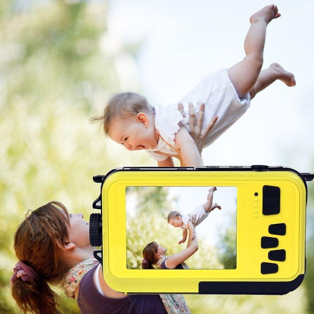 ФОТО Digital Camera 16X digital ZoomShockproof Waterproof Full HD1080p cam 2.7inch LCD CMOSwaterproof Cameras DCdouble Screens camera