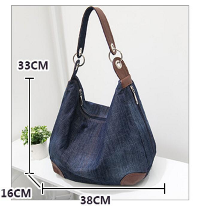 KUJING qualité sac à main rétro denim résistant à l'usure - Des sacs - Photo 4