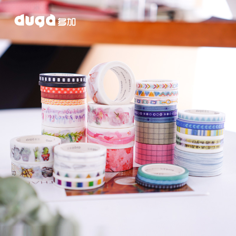 Tapes Stickers Masking-Tape Stationery Decorative Scrapbooking Adhesive Plants Japanese