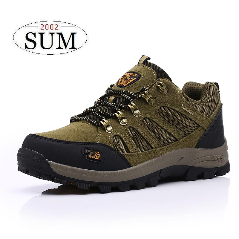 ФОТО #13001,Classic lace up suede leather mesh breathable men sport shoes women outdoor shoes anti-skid women hiking shoes 2016