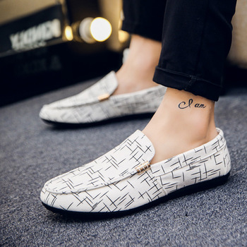 Fashion Men Casual Suede Leather Loafers Solid Leather Driving Moccasins Gommino Slip on Men Loafers Shoes Male Loafers 2019 фото