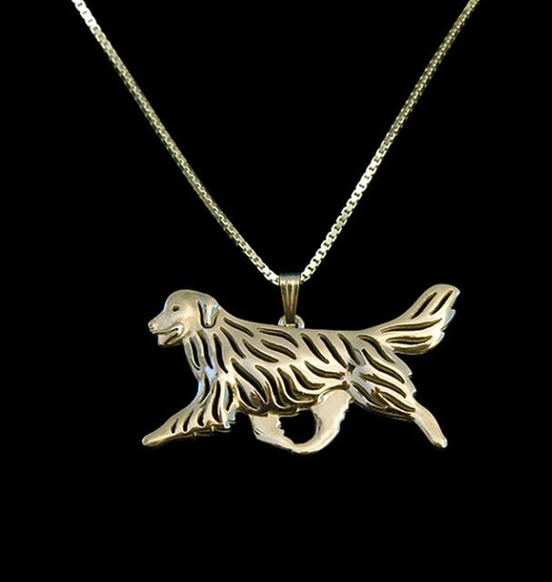 Ожерелье Подвеска для собаки из сплава золотого ретривера с