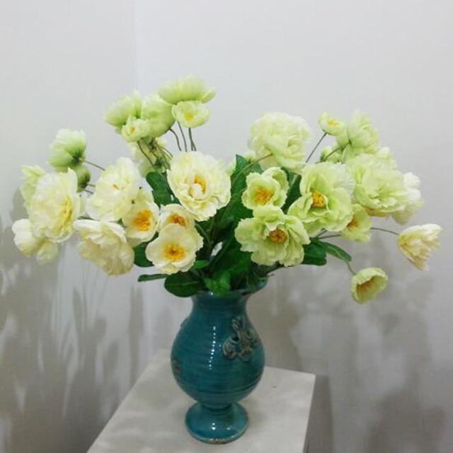 Vivid Tea Rose Silk Artificial Flowers 54cm 2 Head Wedding