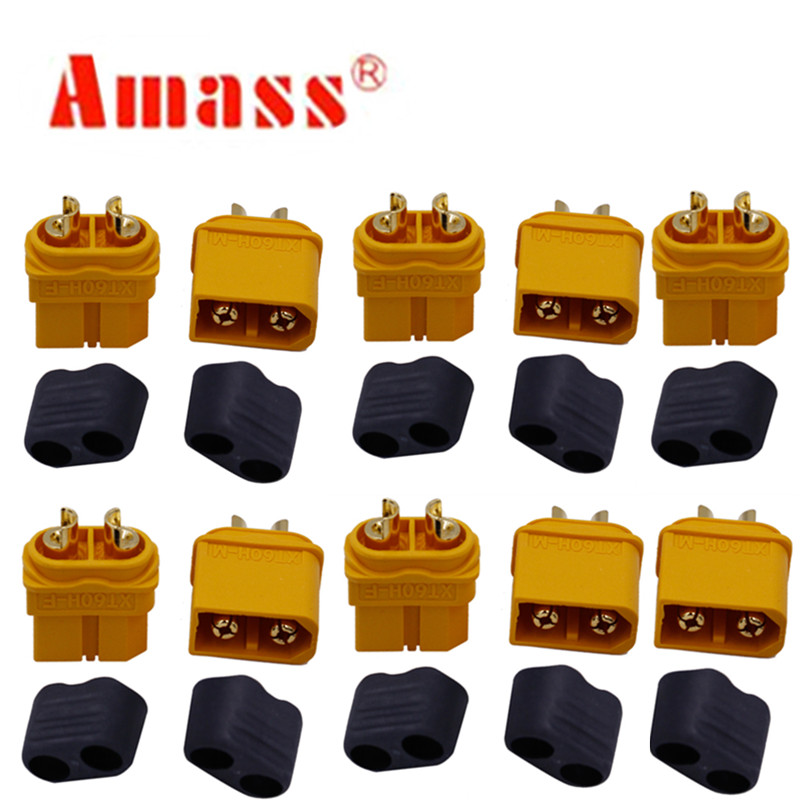 10 x Amass XT60 XT60H Plug Connector With Sheath Housing 5 Male 5 Female (5 Pair )20%off(China)