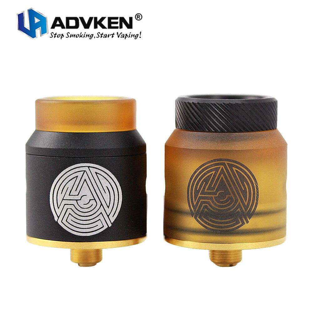 Originale Advken Artha RDA 24mm Diametro Lato di Controllo del Flusso D'aria Dual-post Design Compatibile con Squonker MOD E cigs Vape Serbatoio
