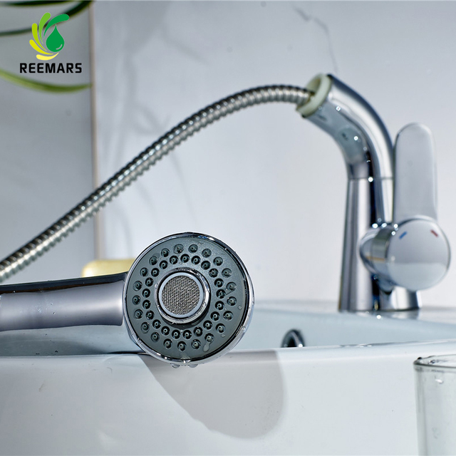 Genuine REEMARS Bathroom Faucet Mixer Tap Sink Faucet Pull Out ...