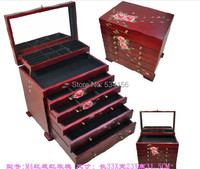 European and American traditional style Extra 6 layer large wooden jewelry box vintage jewelry box drawer gift box storage box