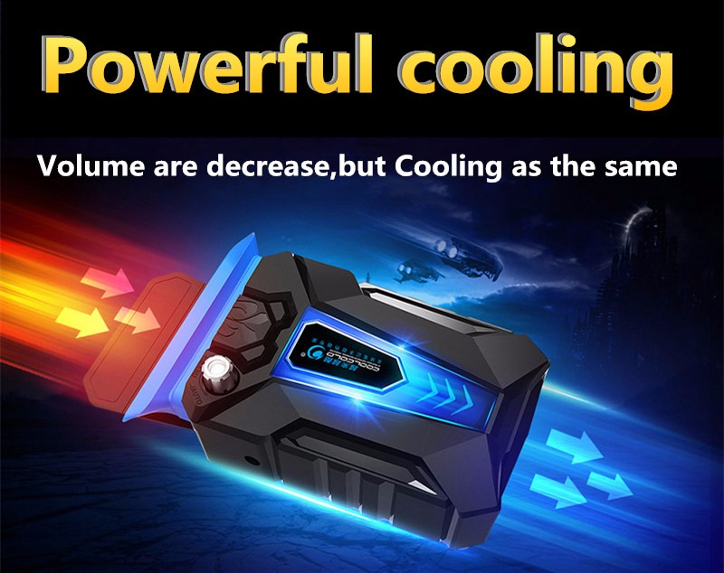 COOLCOLD Portable Notebook Laptop Cooler USB Air External Extracting Cooling Pad Fan for Laptop Speed Adjustable for 15 17 Inch in Laptop Cooling Pads from Computer Office