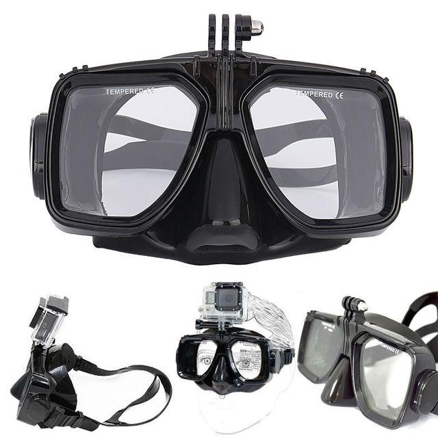 Câmera montar silicone mergulho máscara de mergulho equipamento de mergulho natação para câmera gopro hero 2 3 3 + 4 para esportes