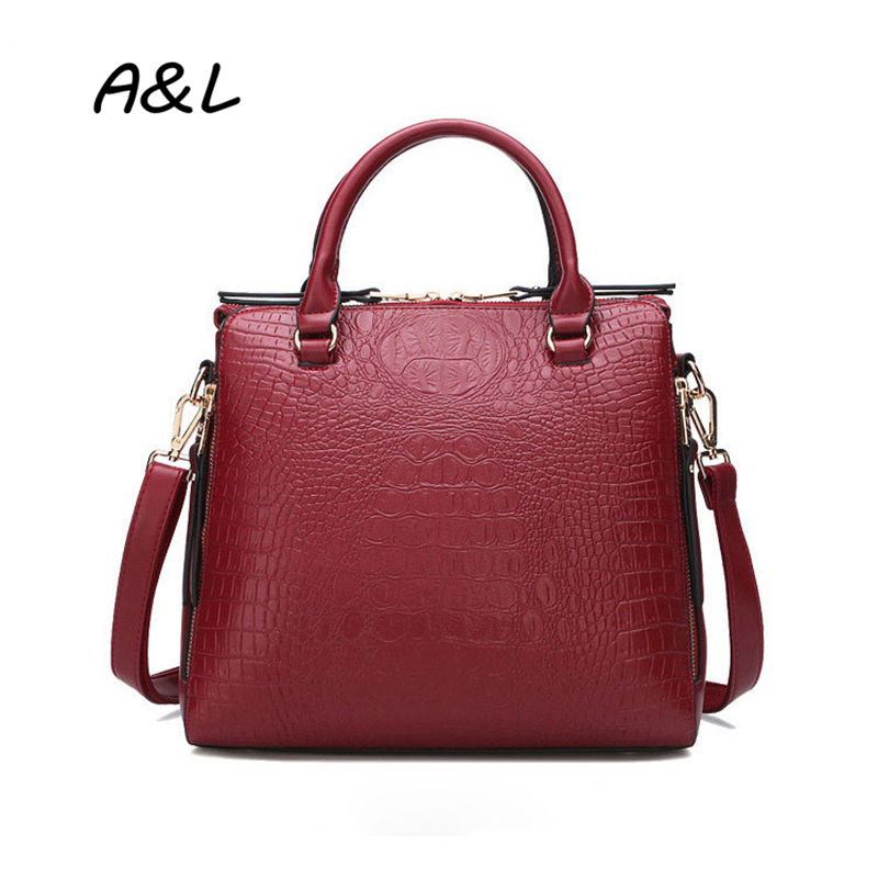 Women New Crocodile Pattern Leather Handbag Office Lady Brand Designer Tote Fashion Casual Shoulder Messenger Bag Bolsas A0018 free shipping new fashion brand women s single shoulder bag lady messenger bag litchi pattern solid color 100