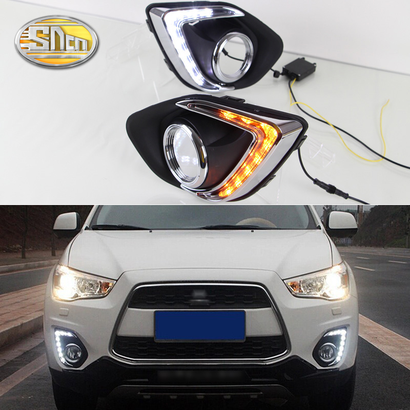 SNCN LED Daytime Running Light For Mitsubishi ASX 2013 2014 2015 Car Accessories Waterproof ABS 12V