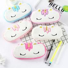 Stationery Pencilcase Unicorn School-Supplies Kawaii-Bag Coin-Purse Girls Cute Boy Plush