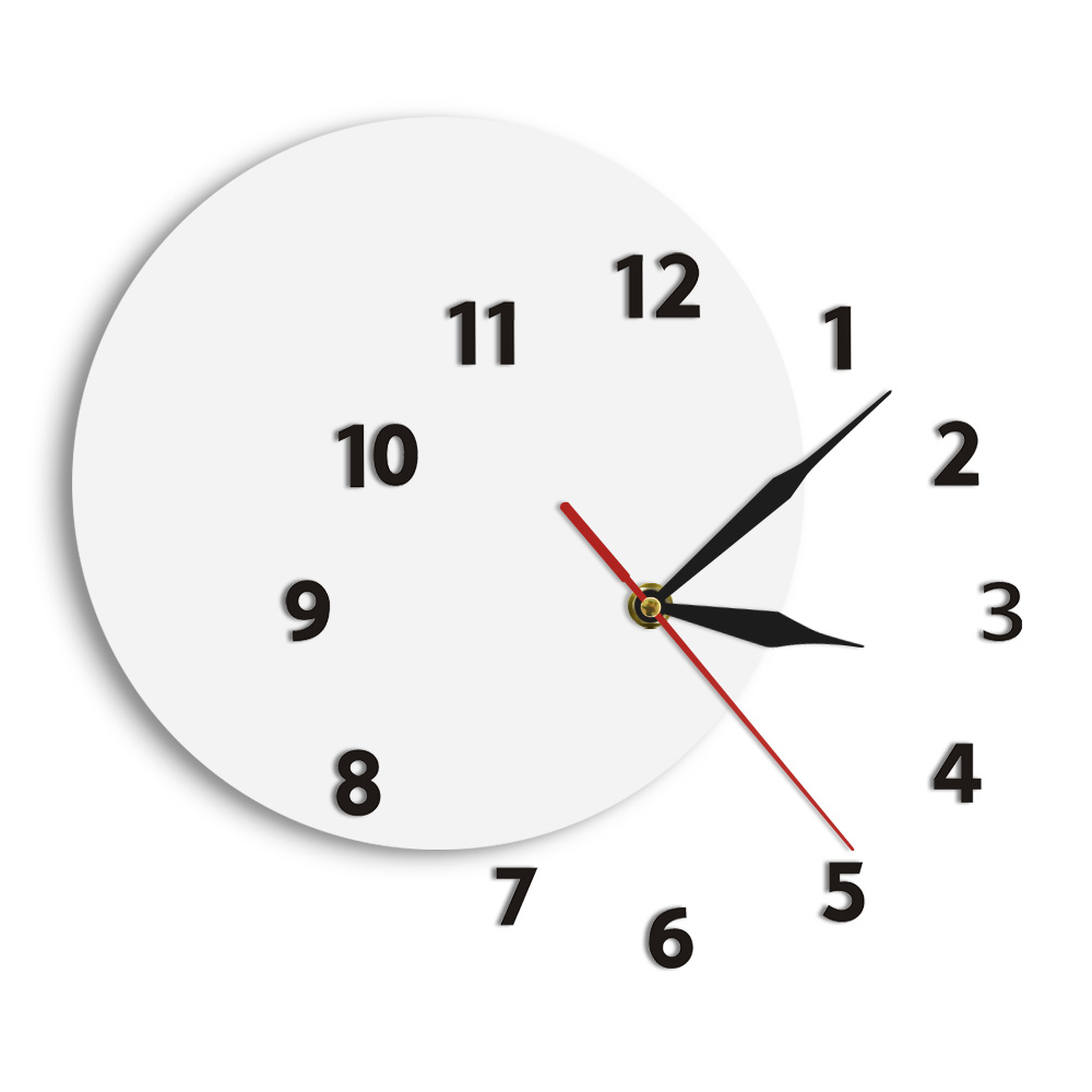 Unusual DIY Wall Clock Out Of Time Moved Some Numbers Of Hours On The Wall Simple Abstract Living Room Modern Wall Clock Watch