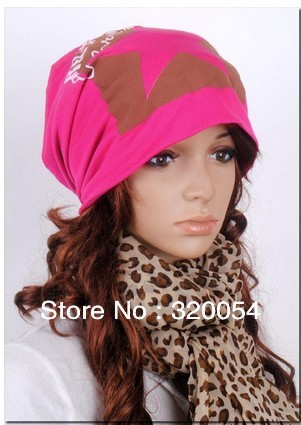 Free shipping,1pcs,2012 new,Fashion the five-pointed star letter sets head cap,Men and women fall winter  cotton hats. the fall of five book 4