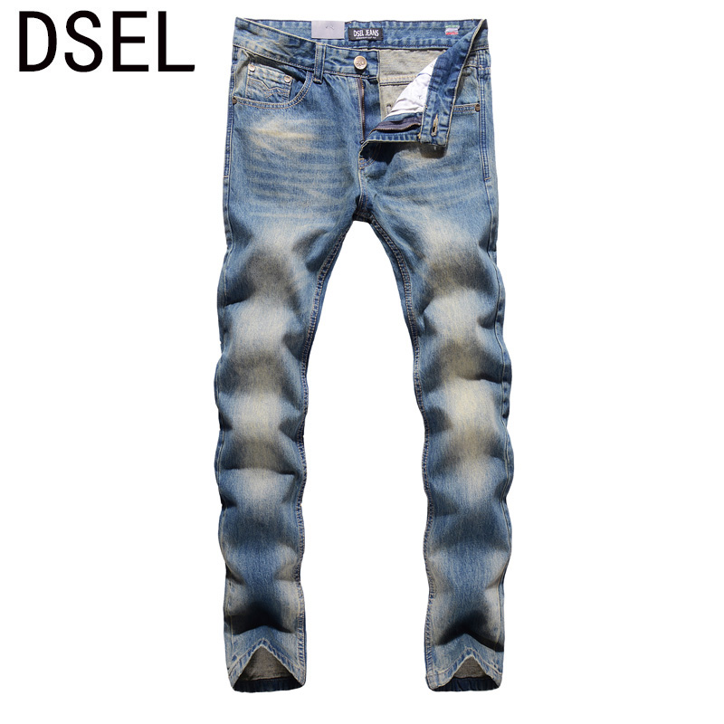 2017 New Original High Quality Dsel Brand Men Jeans Straight Fit Distressed Ripped Jeans For Men
