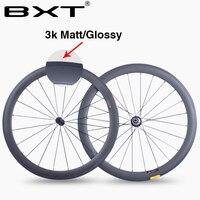 BXT China 50mm 700C Carbon Road Bike Wheels 23mm Width 3K Matte Glossy Chinese Carbon Fiber