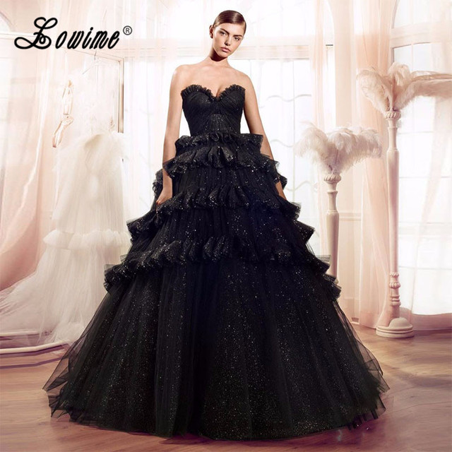 US $178.2 10% OFF|Vestido De Novia 2017 Princess Black Wedding Dresses  Sweetheart Ball Gown Lace Sequin Bridal Gown Plus Size Gothic Wedding  Dress-in ...