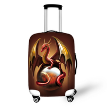 3D Dinosaur Design travel accessories suitcase protective covers 18-30 inch elastic luggage dust cover case stretchable