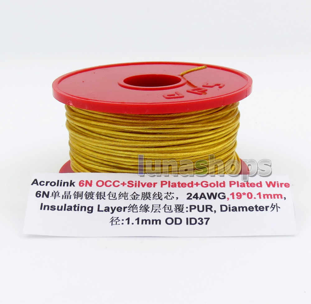 20m Acrolink 6n OCC Silver Plated Gold Plated 24AWG 19 0 1mm PUR Not Tefl OD