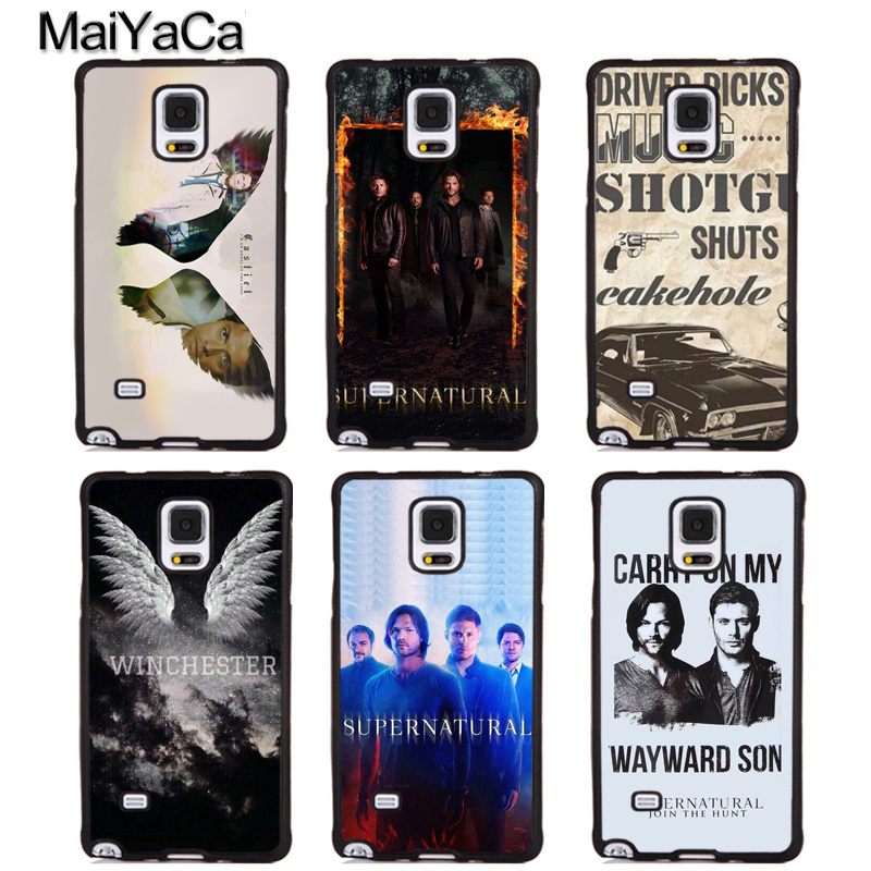 MaiYaCa Castiel WINCHESTER Supernatural Full Phone Cases For Samsung Galaxy S5 S6 S7 edge Plus S8 S9 plus Note 5 8 Cover Shell