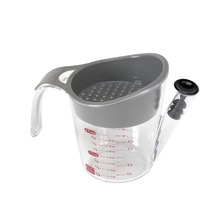 Zorasun إناء الطبخ اللحوم أدوات 2 كوب الدهون فاصل stainers مع عدم الانزلاق مقبض كوب اكسسوارات المطبخ