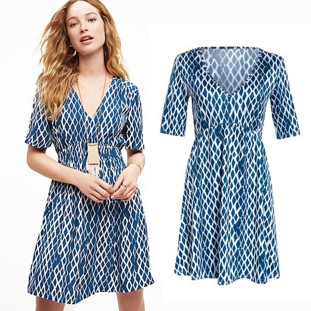 47333a9b7bc 2017 Fashion Women Summer Sexy Dress V-neck Pregnant Women Maternity  Clothing for Pregnancy Tunic