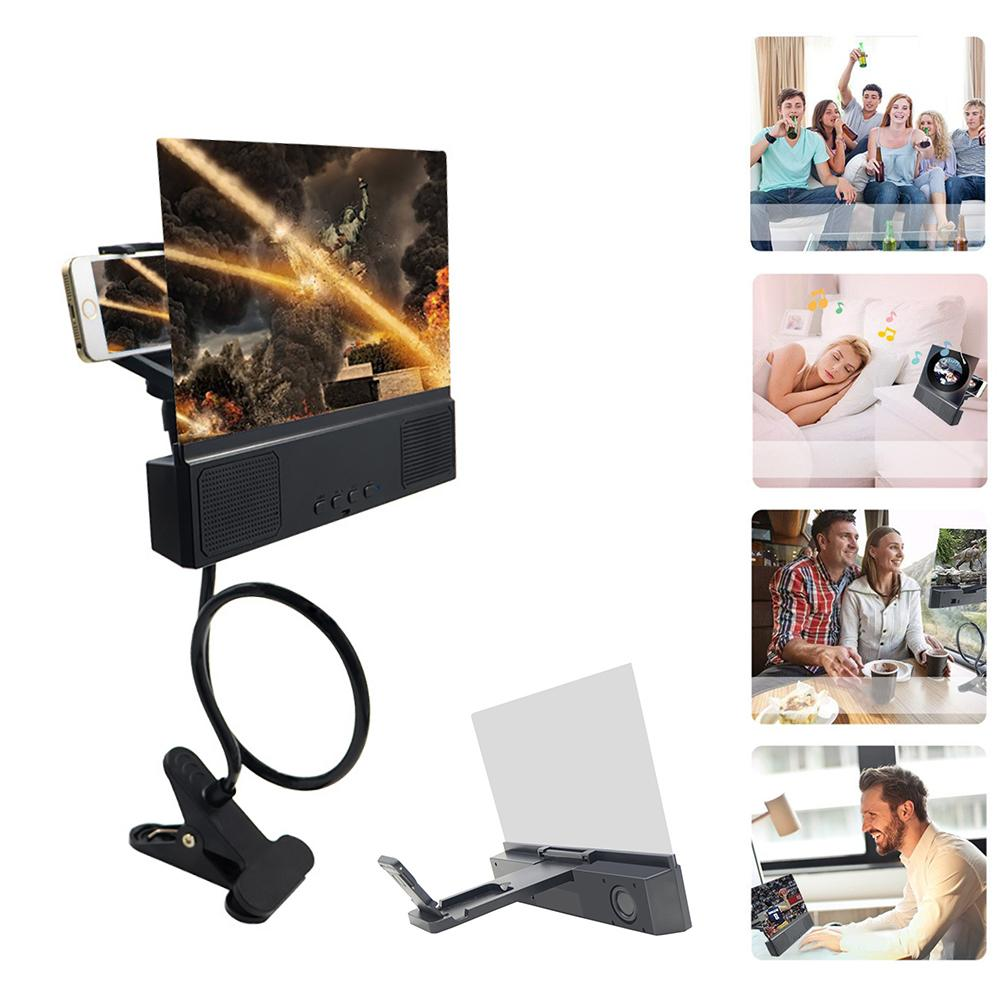 """Image 4 - 3D HD Phone Screen Magnifier Bracket 12"""" Phone Desktop Movies Amplifier Stand Holder For Smartphone With Bluetooth Speaker-in Phone Holders & Stands from Cellphones & Telecommunications"""