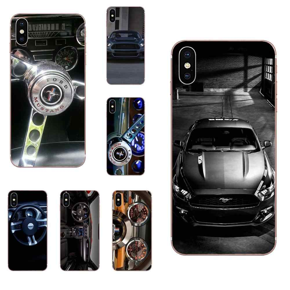 Soft TPU Phone Cover Case Ford Mustang Dashboard For Apple iPhone 4 4S 5 5C 5S SE 6 6S 7 8 Plus X XS Max XR